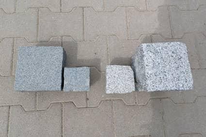 Granitpflaster gesägt