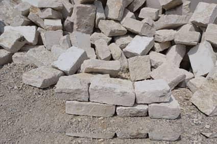 Kleinmauersteine aus Jurakalk