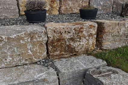 Muschelkalk Großmauersteine