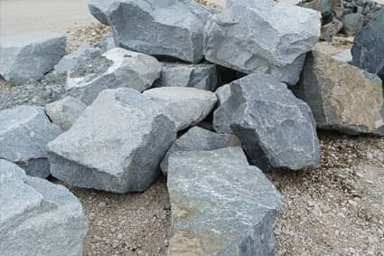 Findlinge in Granit