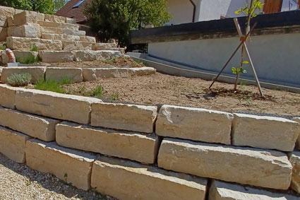 Jurakalk-Mauersteine